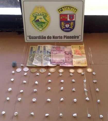 drogas apreendidas em Cambará